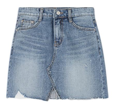 Winnie Damage Denim Skirt