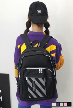 韓國空運 - Zebra backpack with pouch ♡ 後背包