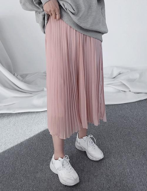 Shasha pleated long skirt