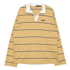 Long Stripe Collar Top