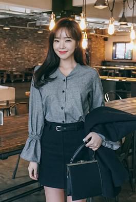 Huvock check blouse