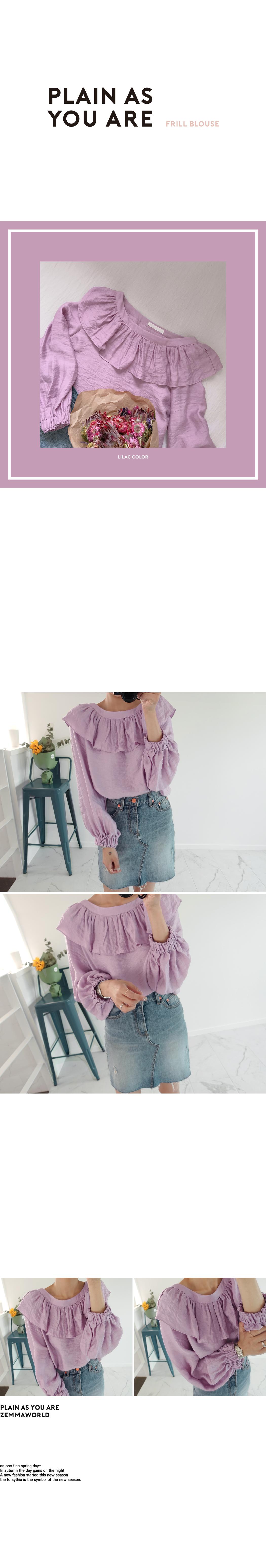 Lavender-블라우스