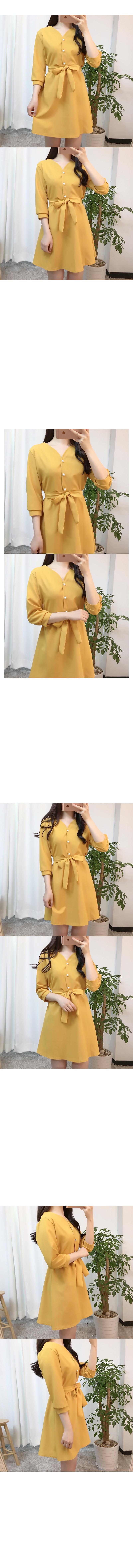 최저가♥스윗 진주 리본원피스(3color)