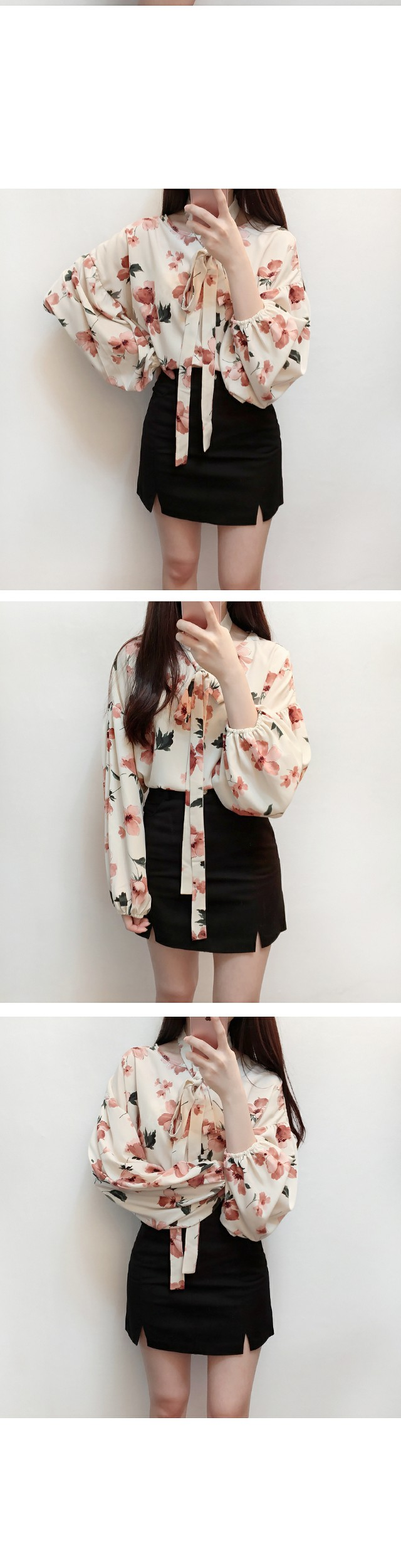Order rush ♥ flower scarf bl