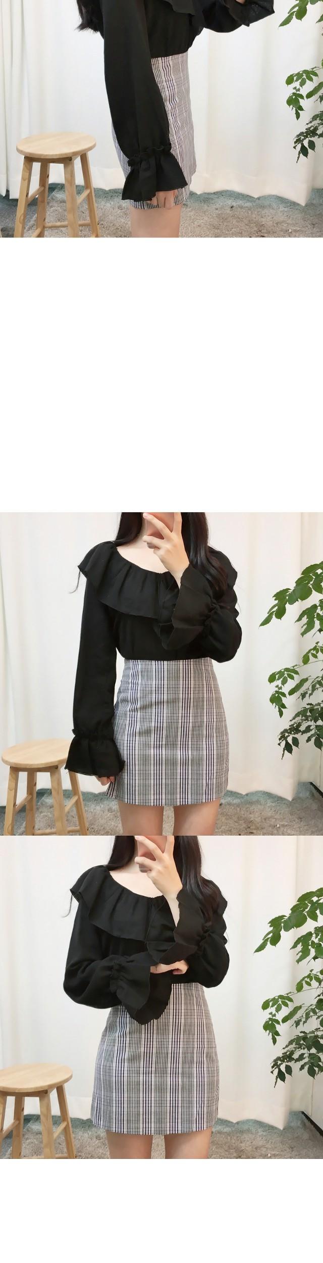 Mellow frill blouse