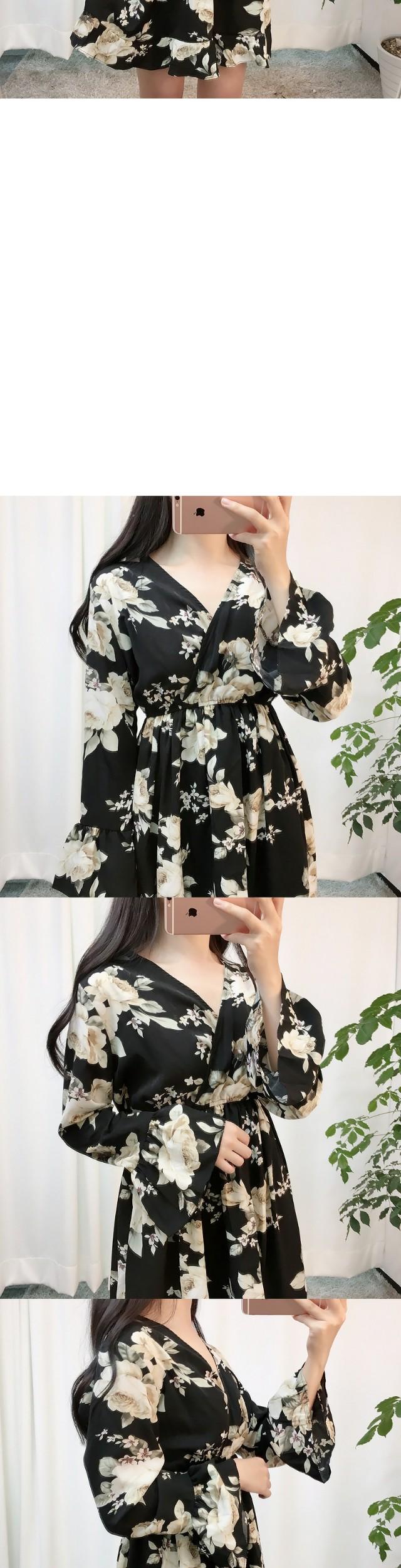Planning Items Black Flower Dress