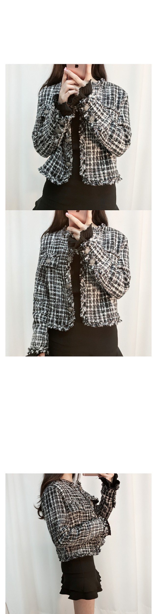 ♥ Blanc Tweed Jacket