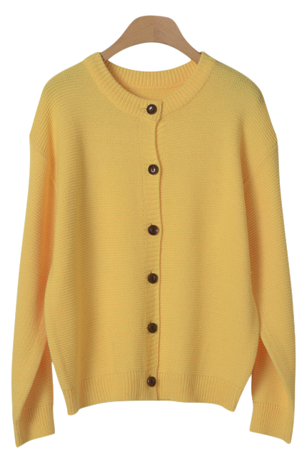 Daily Life button knit cardigan