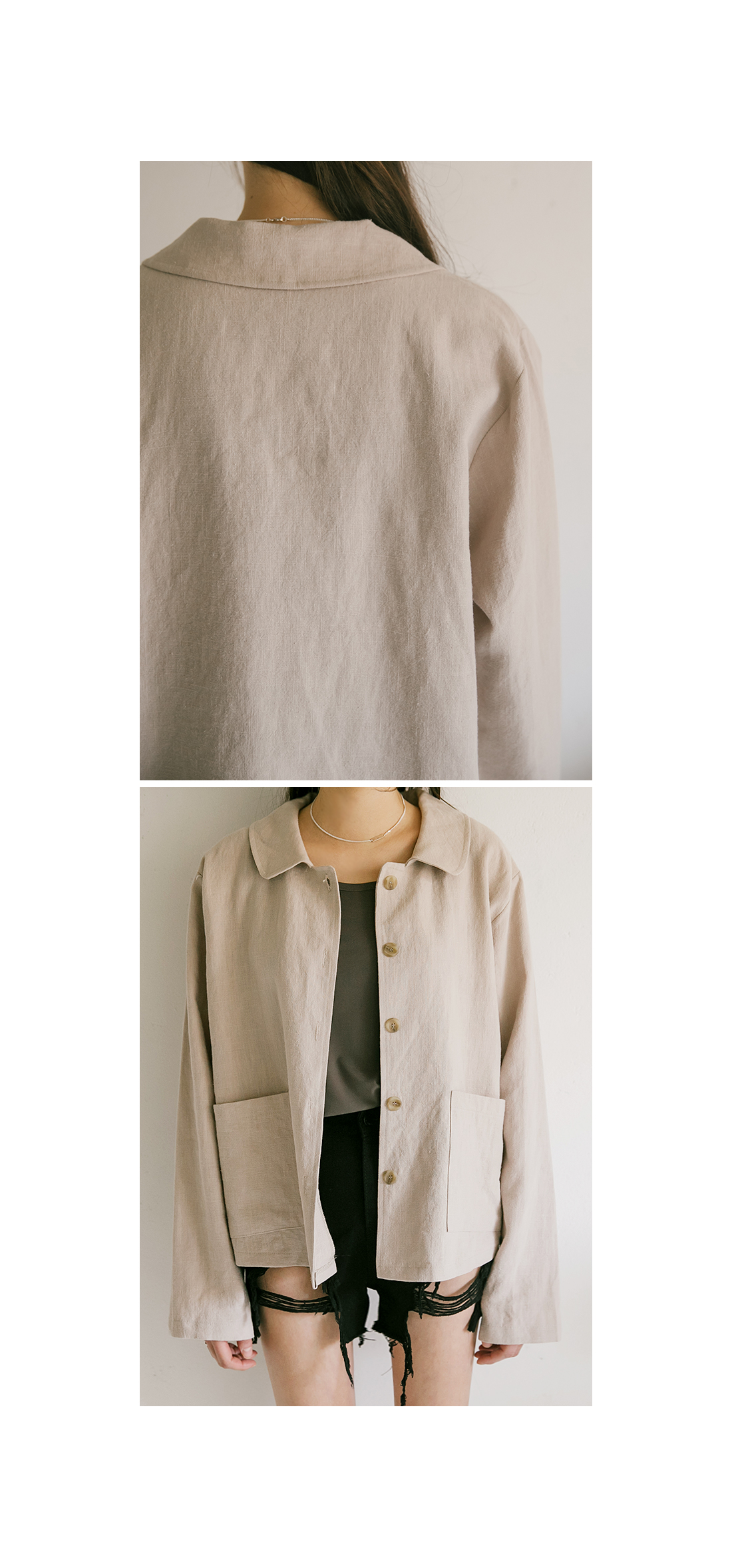 RAMIE ROUND COLLAR NECK JACKET
