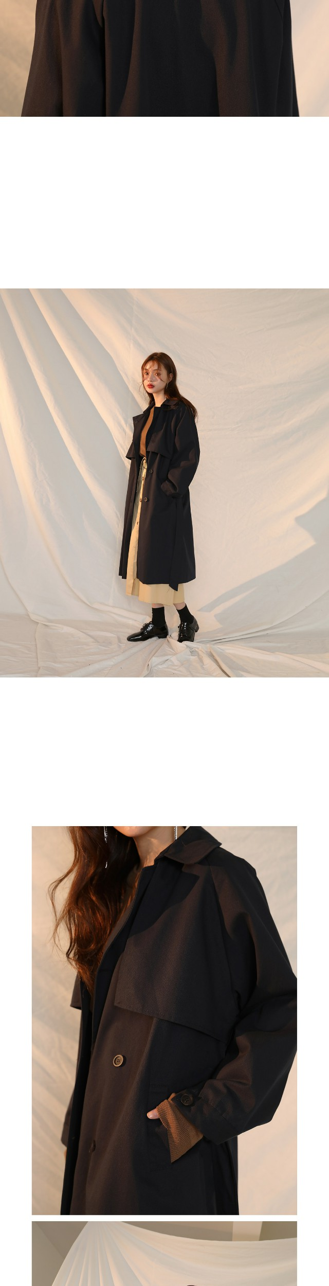 CAPE LONG TRENCH COAT