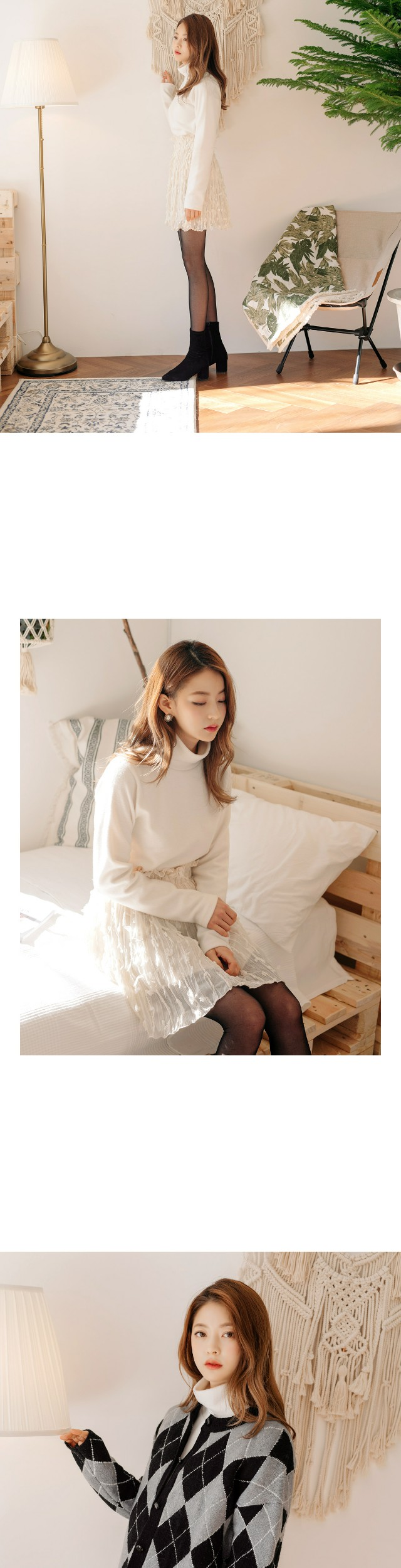 [TOP] CLOUD NAPPING HIGH NECK T