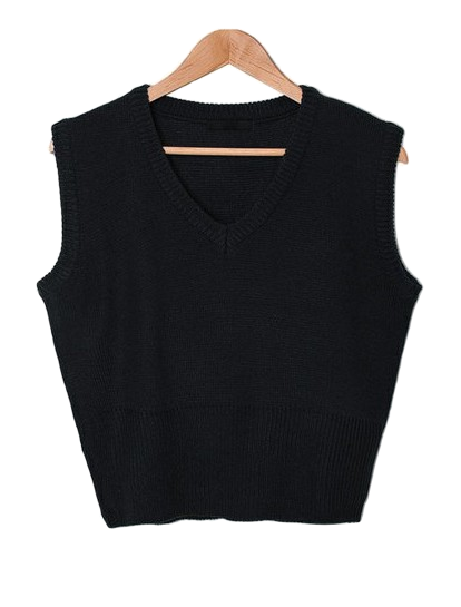Vogue V Neck Cropped Vest