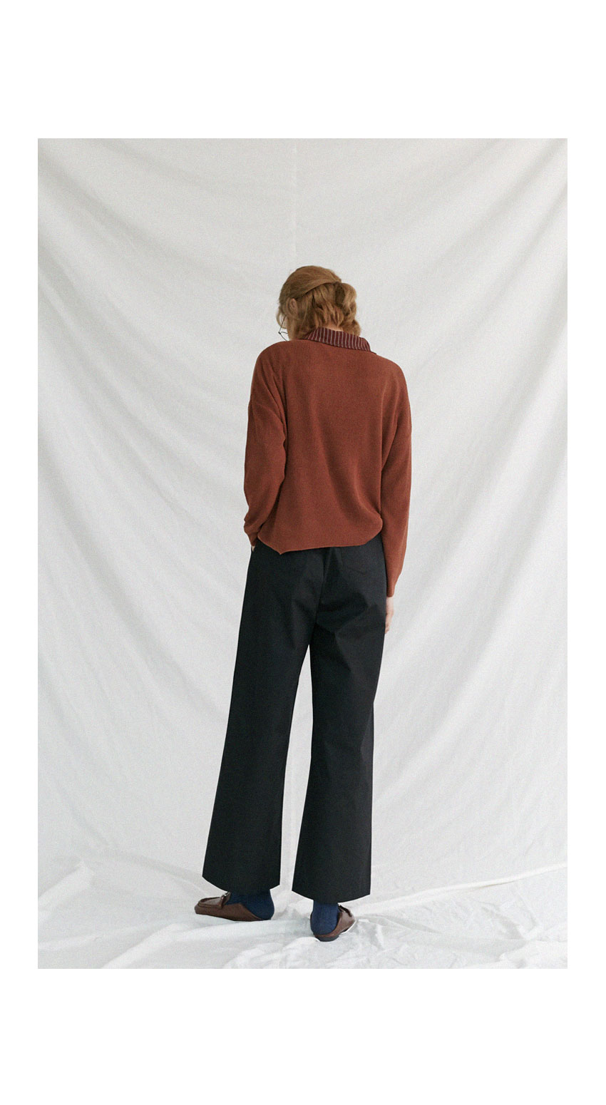 Simple Cotton Wide Pants