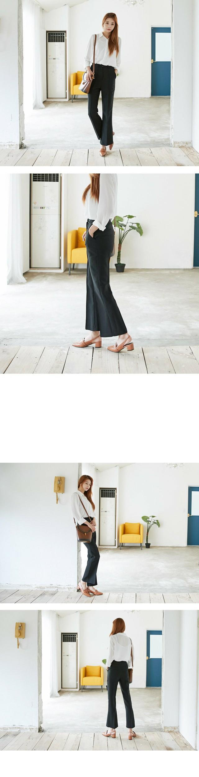 로퍼트 슬링백 미들힐 5cm