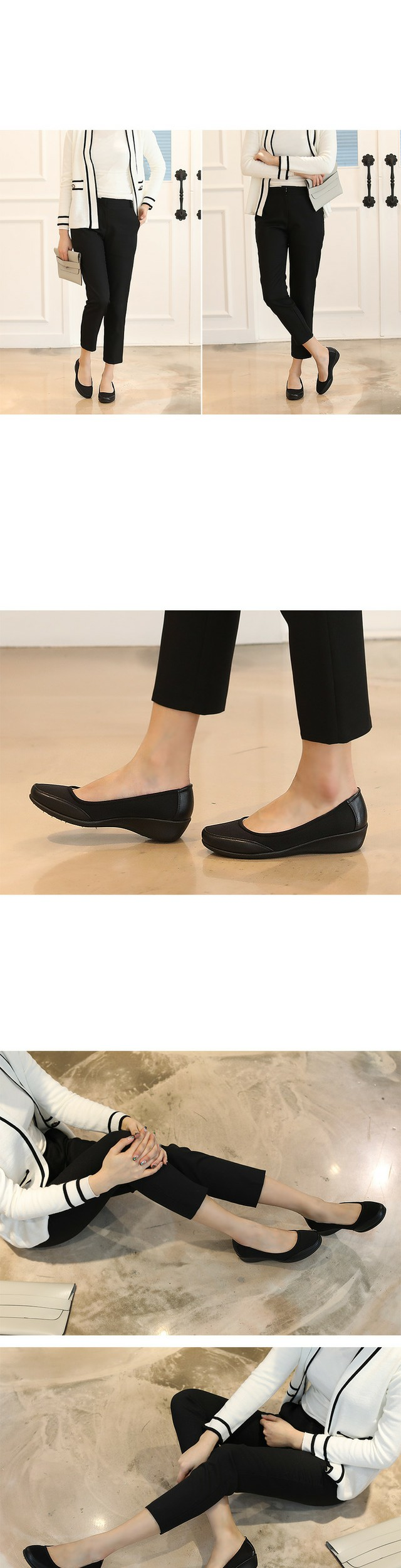 Cameo Wedge flat shoes 3.5cm