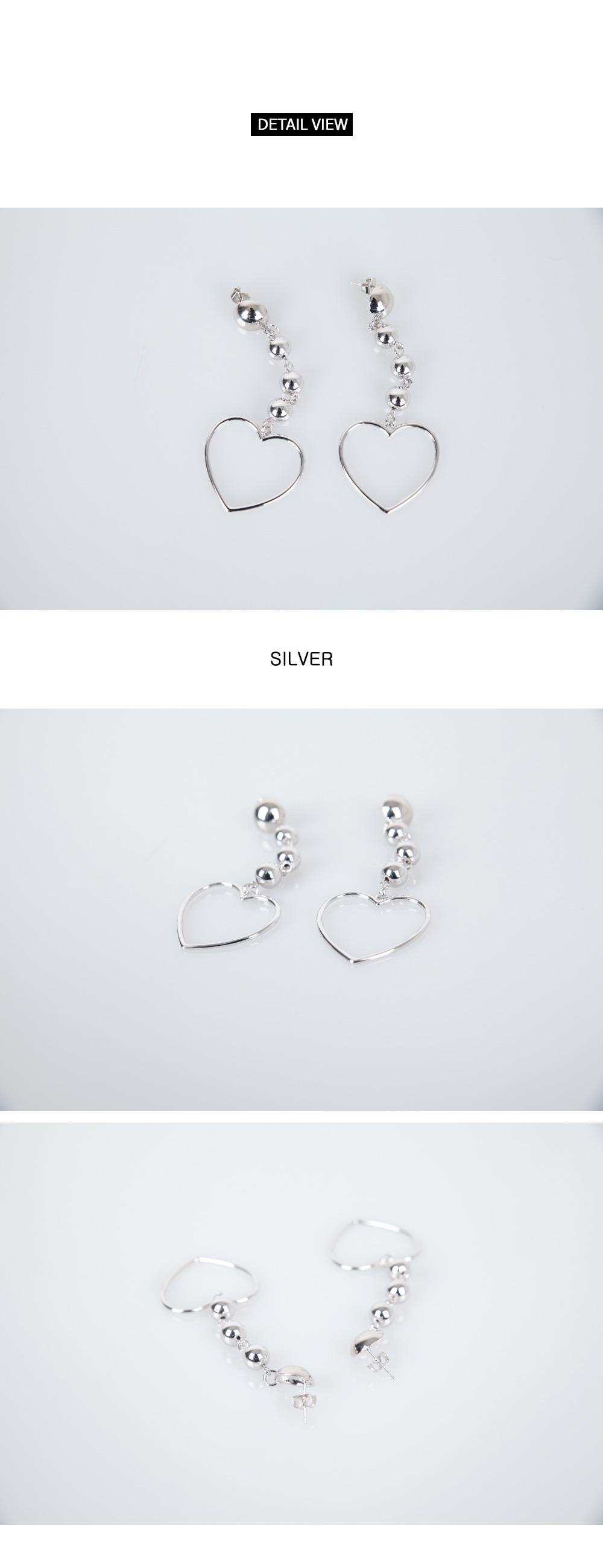 Drop Drop Heart Drop Earrings