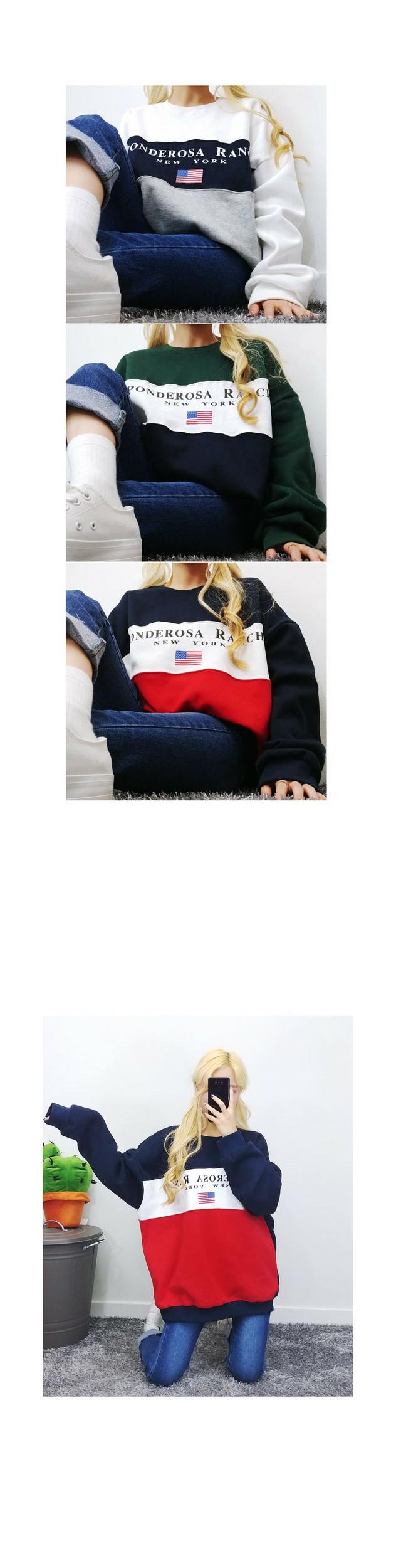 뉴욕배색박시MTM♥남녀공용♥(기모)