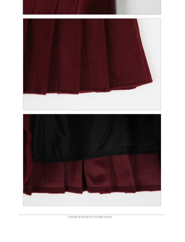 Roulette wool tennis skirt