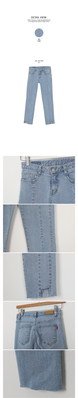 Cut slim pants