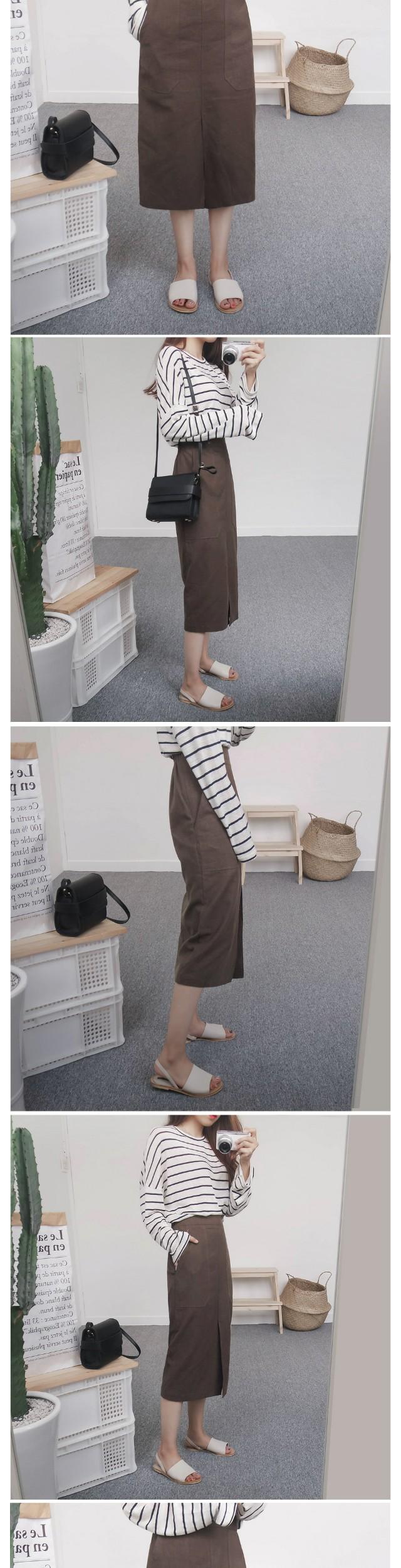Ron linen long H skirt