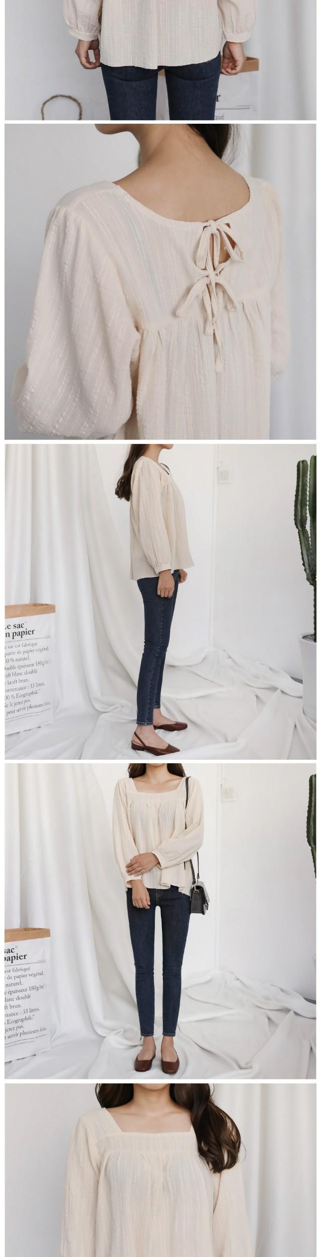 Double back ribbon blouse