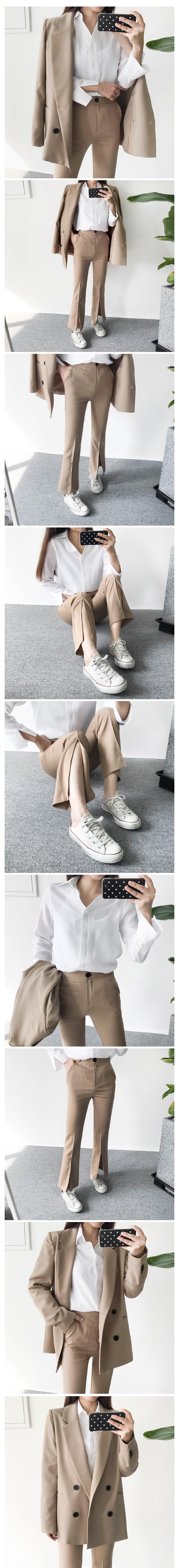 Boy Boots Cut Lim Slacks