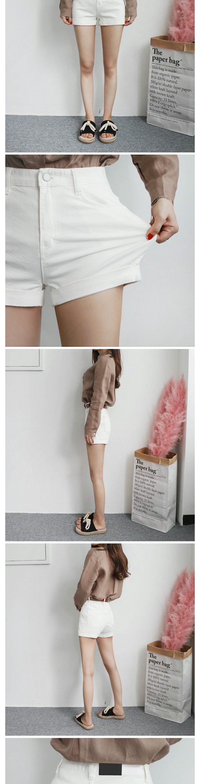 Honeysuckle roll shorts
