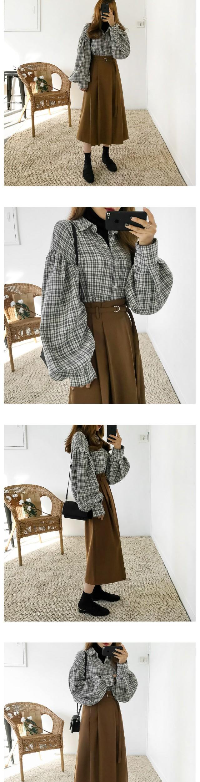 D Ring Fleece Long Skirt
