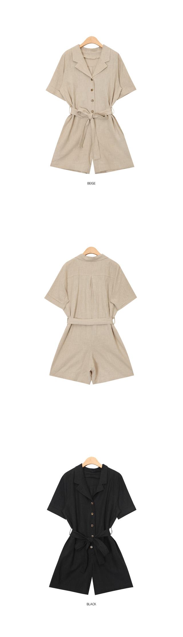 collar summer jumpsuit (2 colors)