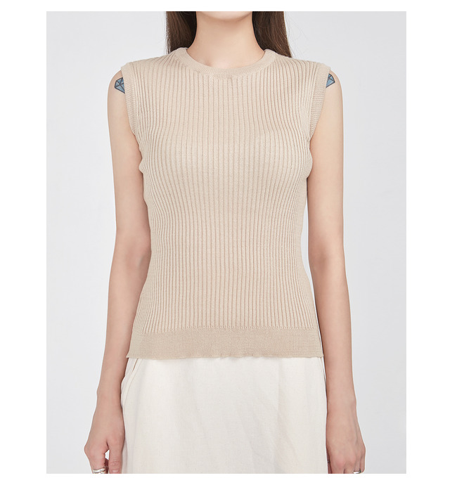FRESH A golgi knit sleeveless