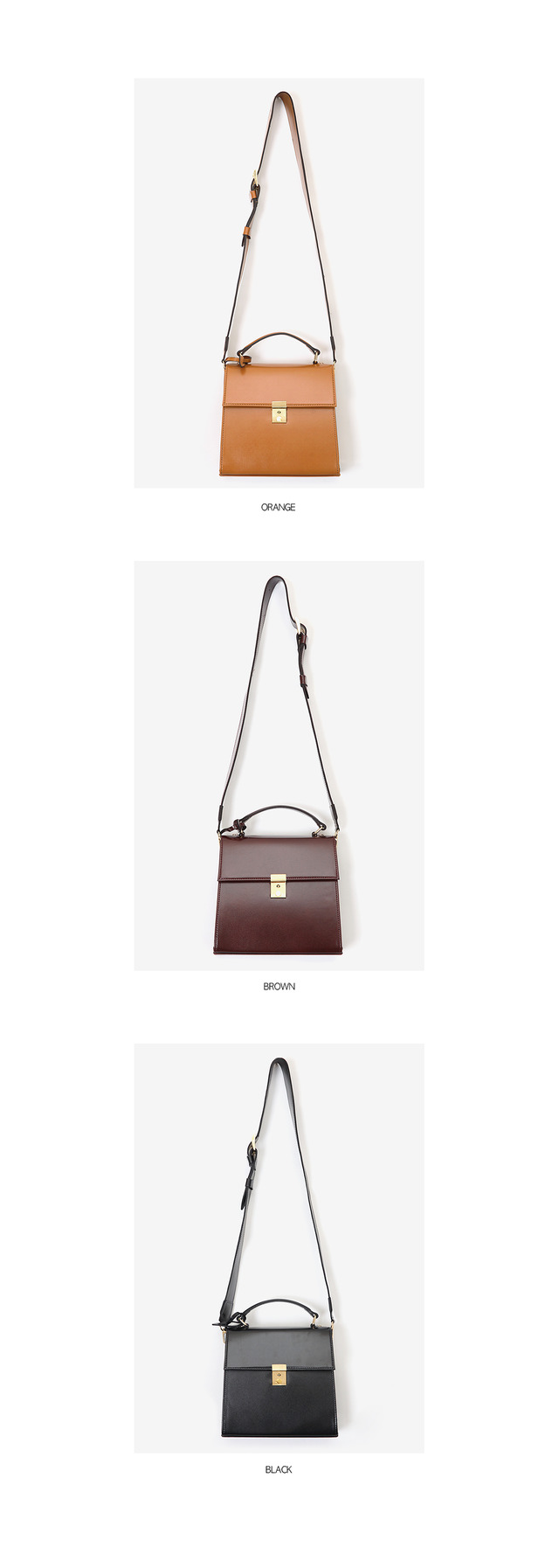 wide strap 2 way daily bag (3 colors)