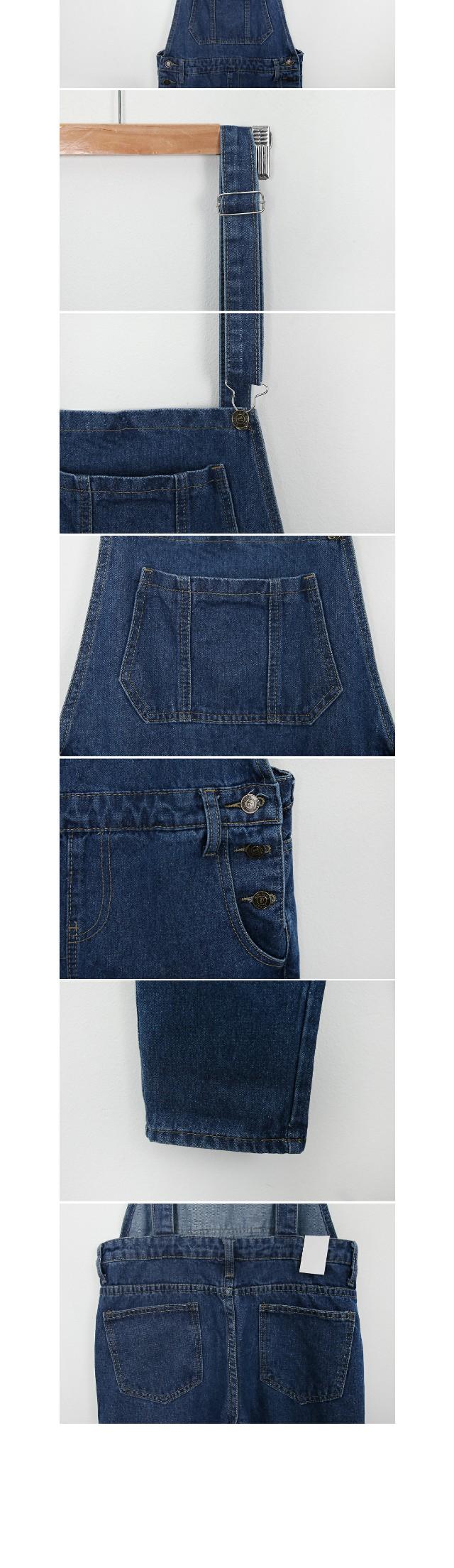 Pops denim suspenders pants