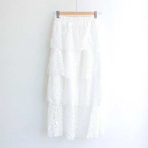 Kangkang Lace Bending Midi Skirt