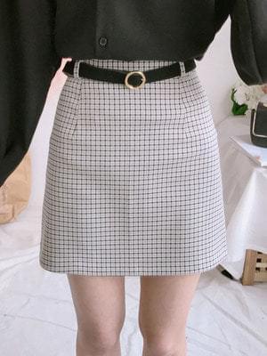 Olson check skirt