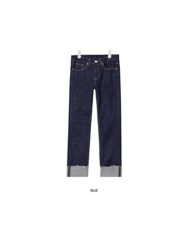 deep color slim denim pants (2 colors)