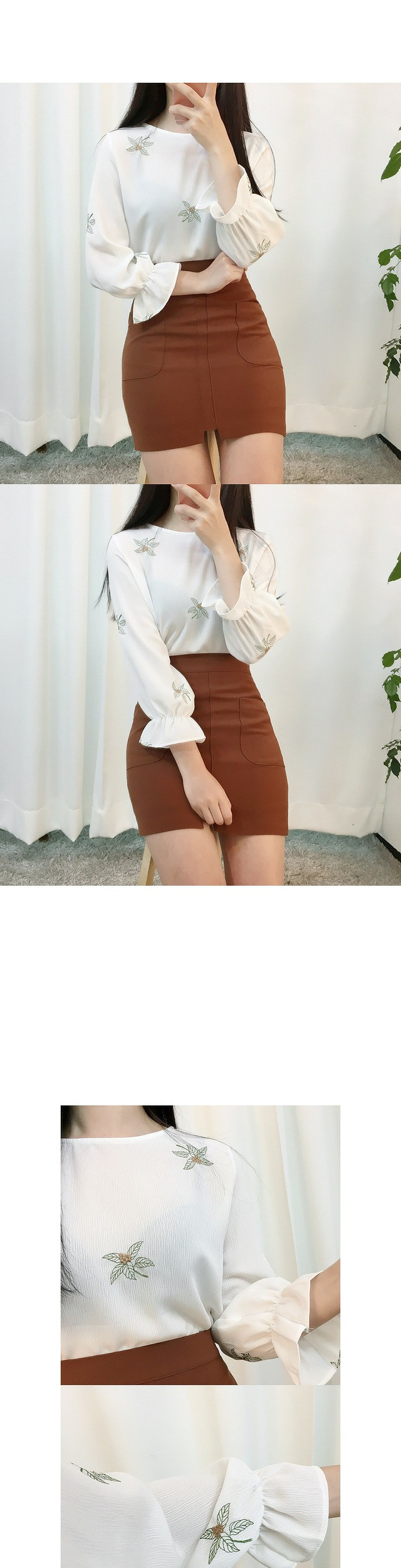 Mary Flower Blouse