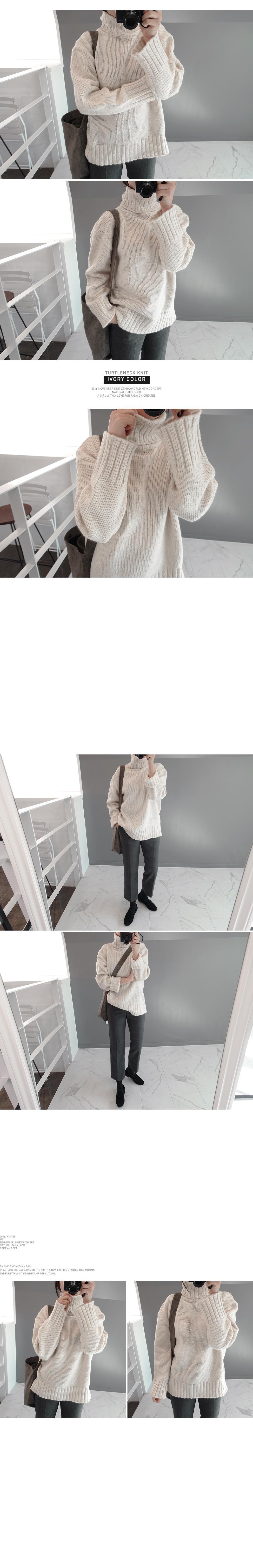 selfie-터틀넥니트