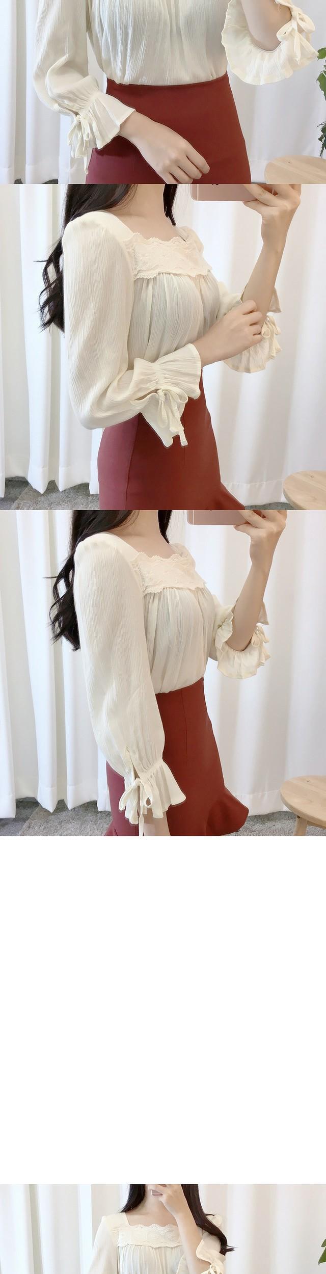 Girls lace blouse