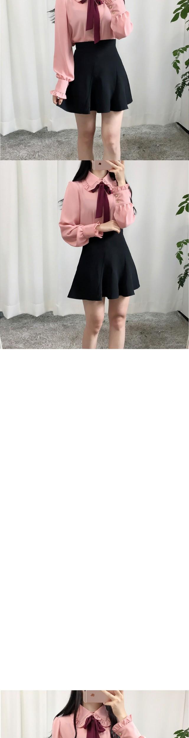 꽈배기 절개 스커트(3color)