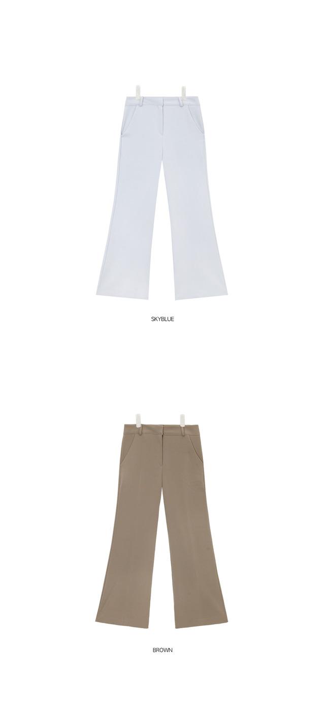 fresh color boots cut slacks (3 colors)