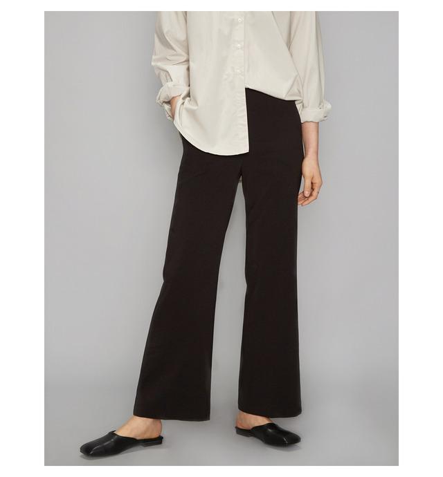 semi boots cut line long slacks (2 colors)