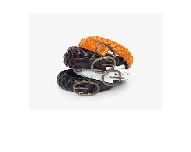 mesh oval buckle belt (4 colors)