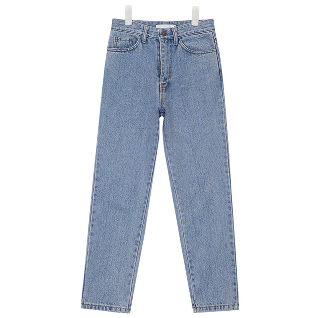 highwaist slim baggy fit denim pants