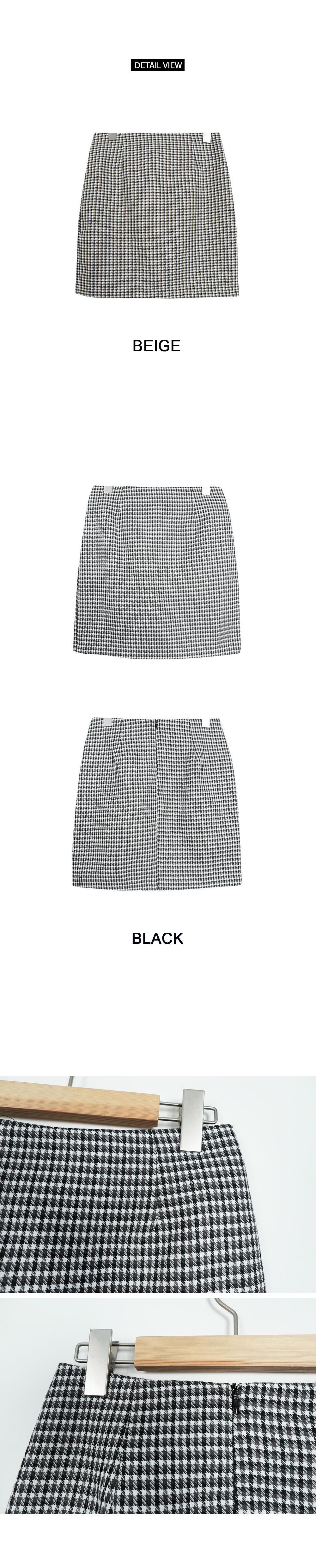 Honey check skirt