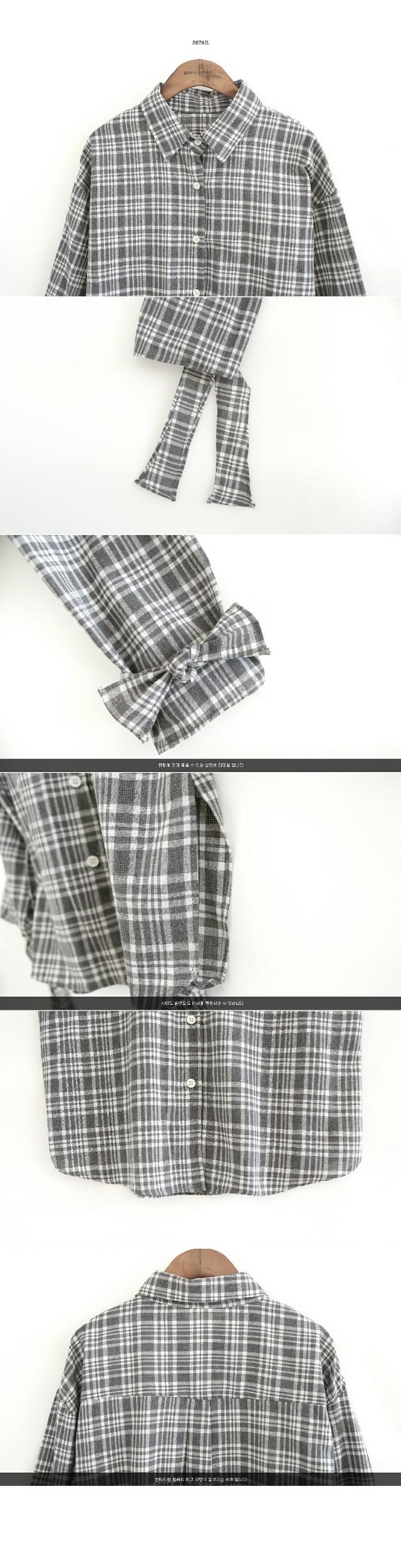 CHECK SLEEVE DETAIL SHIRTS