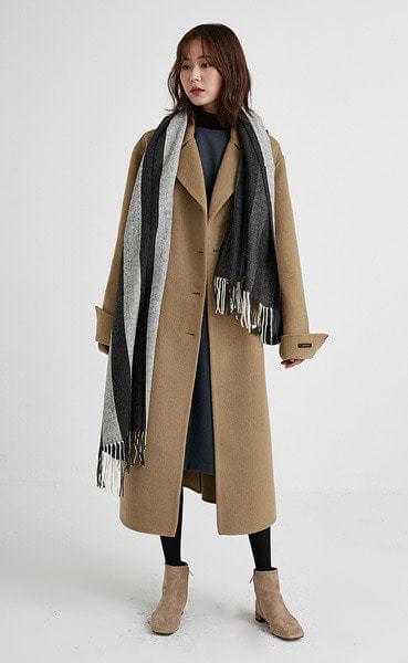 handmade double classic coat (3colors)