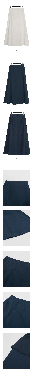 Pure linen flare skirt