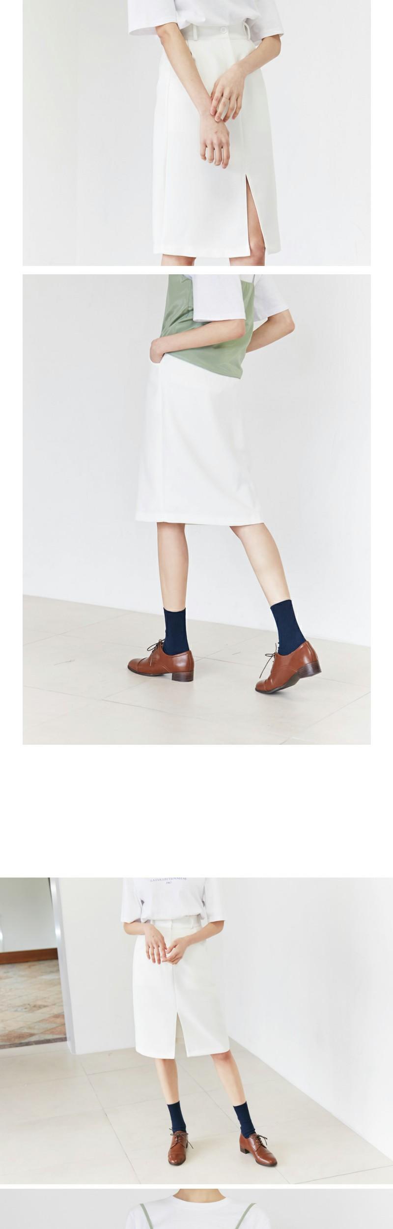 Classic H-line slit skirt_K(size : free)