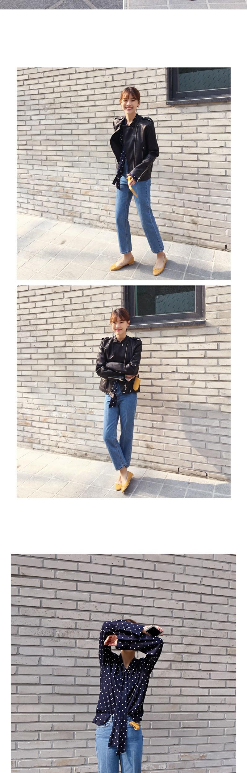 Olivia ribbon flat shoes_S (size : 225,230,235,240,245,250)