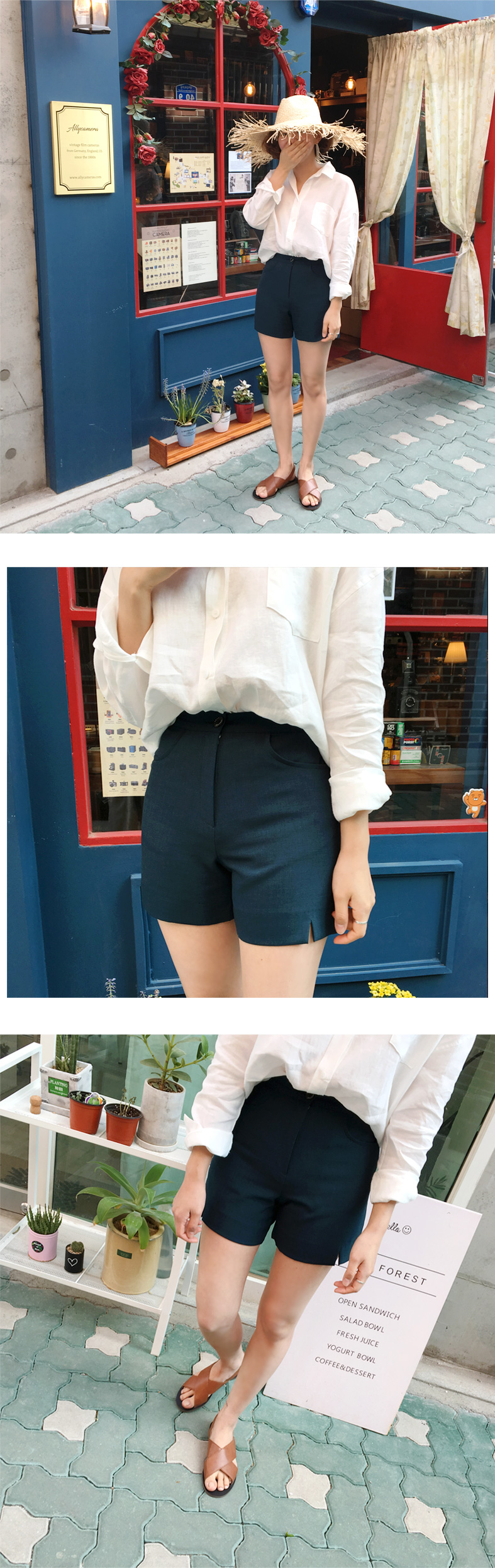 Made_bottom-103_slit shorts (size : S,M)